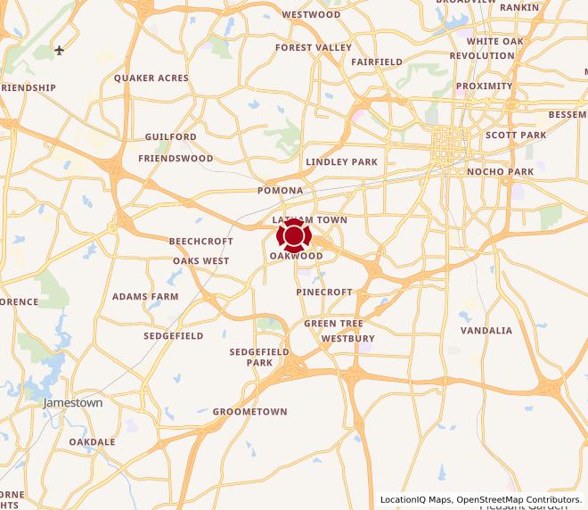 Map of Gate City Blvd. #1336