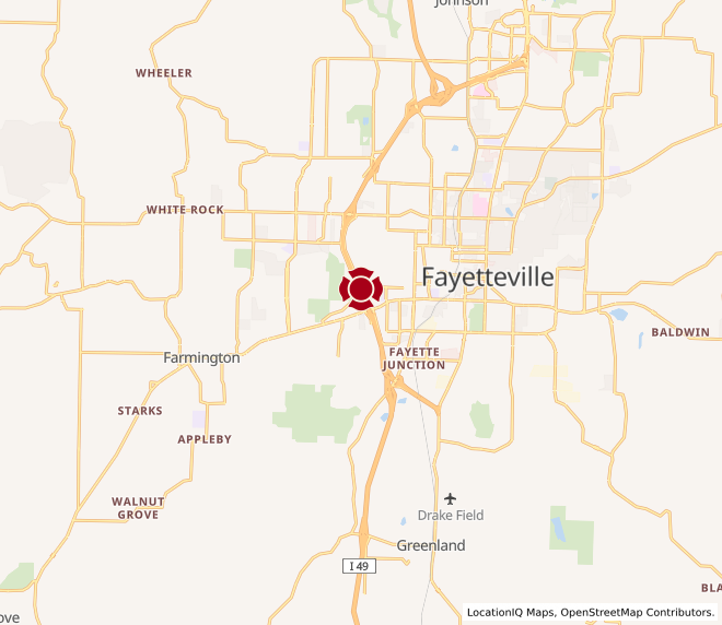 Map of Fayetteville West #101