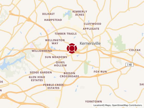 Map of Main Street Kernersville #1725 - Coming Soon