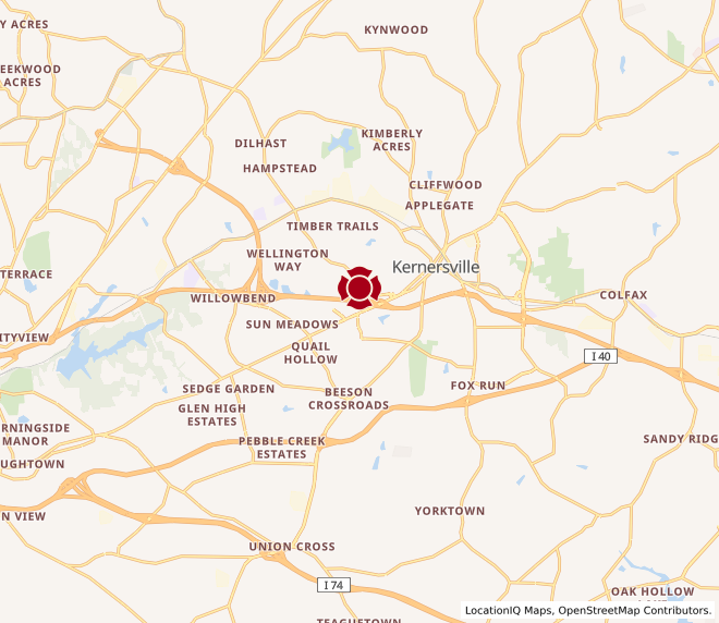 Map of Main Street Kernersville #1725