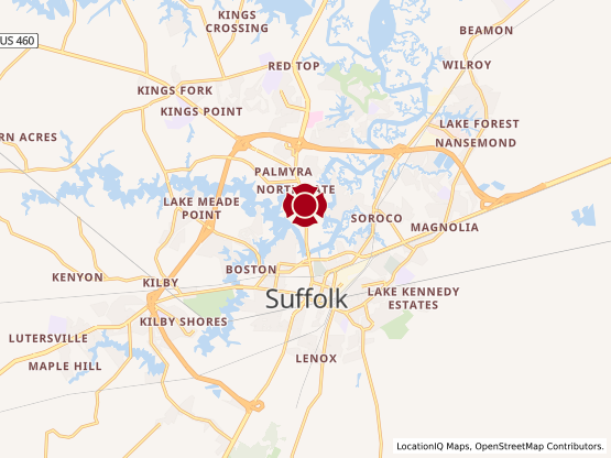 Map of Downtown Suffolk #1536