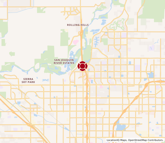 Map of Fresno - Centrum #1316