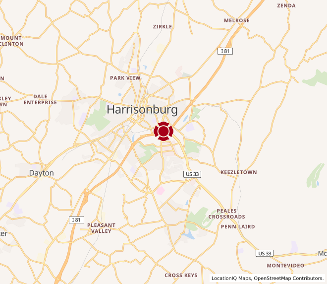 Map of Harrisonburg #833