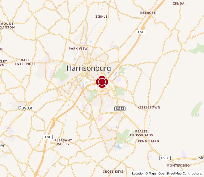 Map of Harrisonburg #833