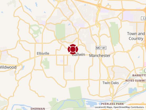 Map of Ballwin #885