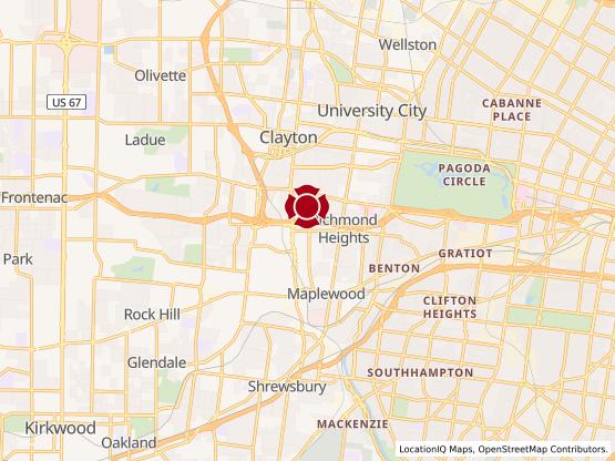 Map of Hanley Rd #1640