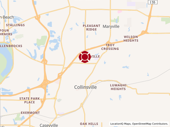 Map of Collinsville Centre #1514