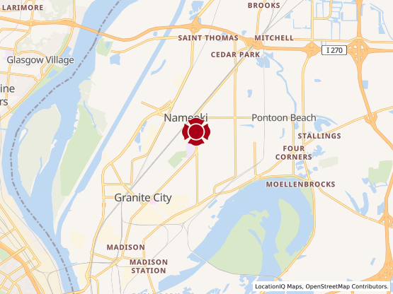 Map of Granite City #1037
