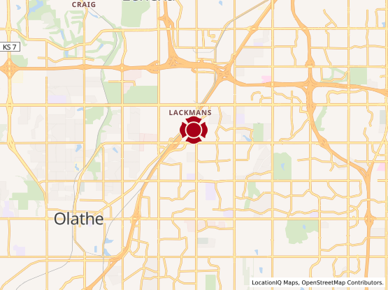 Map of Olathe Station #567