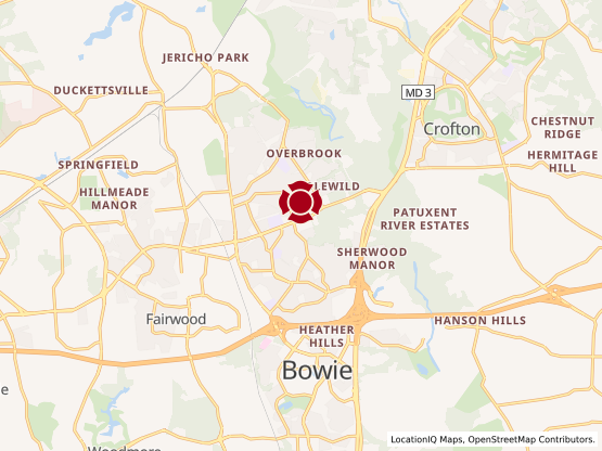 Map of Bowie Marketplace #1403