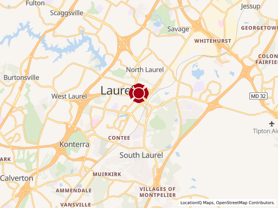 Map of Laurel Shopping Center #1460