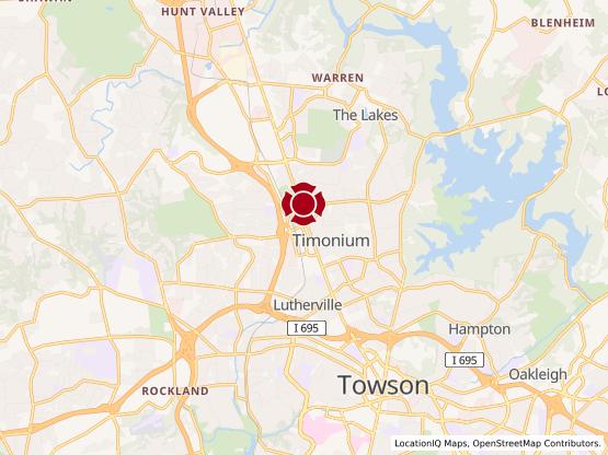 Map of Timonium Crossing #758