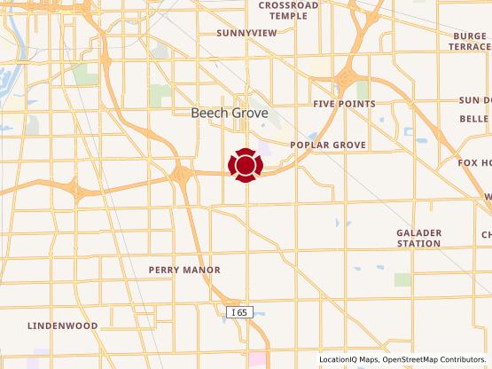 Map of Beech Grove #616