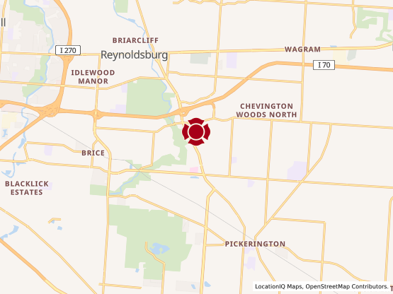 Map of Pickerington #1057