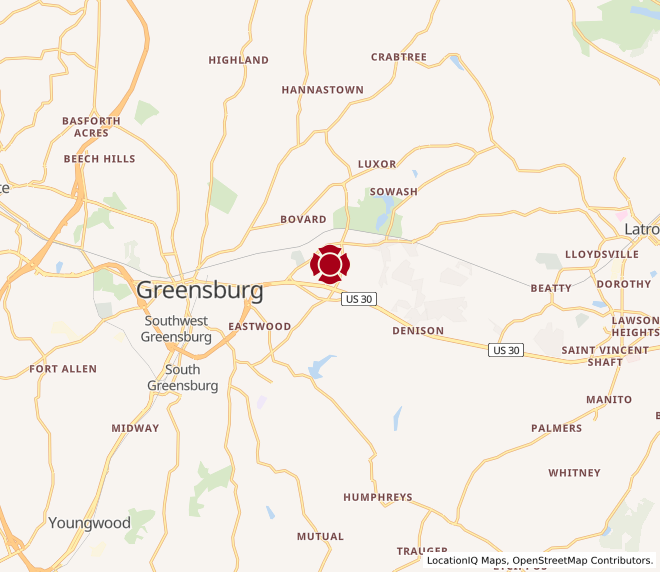 Map of Greensburg #1472
