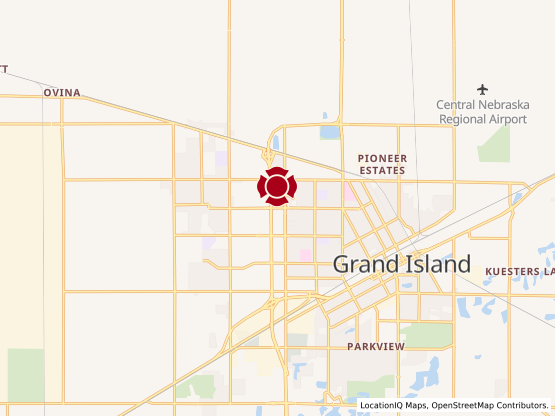 Map of Grand Island #1147