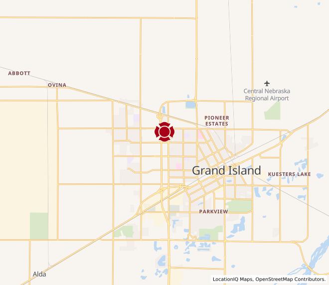 Map of Grand Island #1147