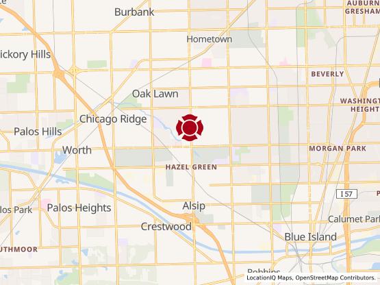 Map of Oak Lawn #1286