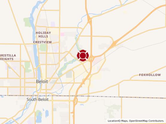 Map of Beloit - Milwaukee Rd #1581