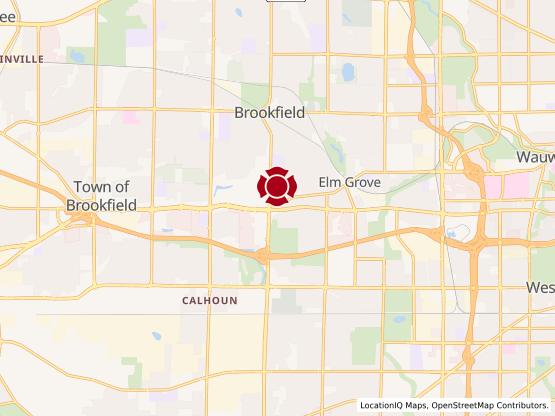 Map of Brookfield/Elm Grove #813