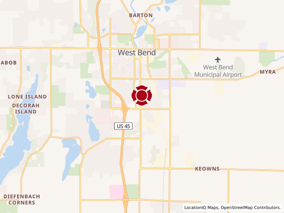Map of West Bend Center #1698