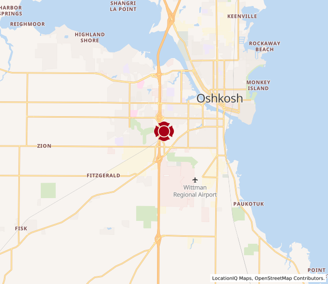 Map of Oshkosh Place #1118