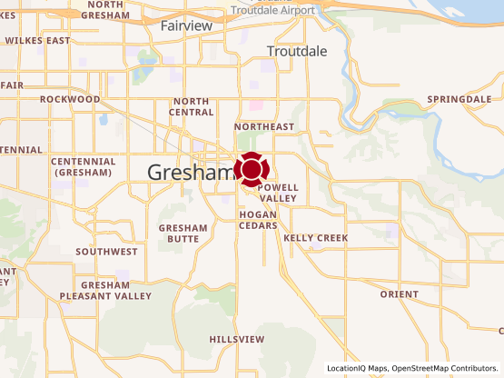 Map of Gresham Village #1252