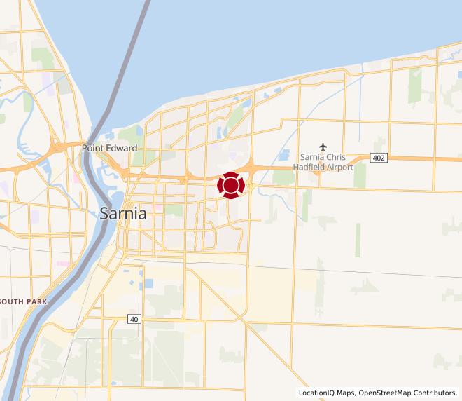 Map of Sarnia #10040