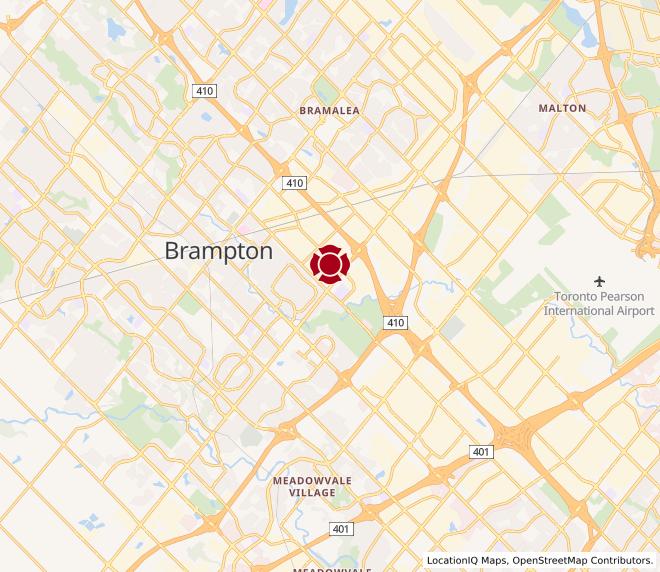 Map of 410 at Steeles - Brampton #10021