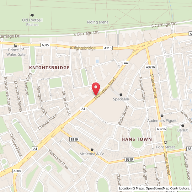 Knightsbridge London Map.Opening Hours For Cos In London 48 Brompton Road Opening Times Nearby